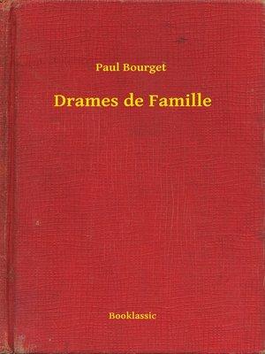cover image of Drames de Famille
