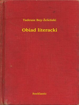cover image of Obiad literacki