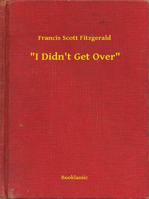"""cover image of """"I Didn't Get Over"""""""