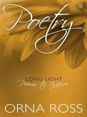 cover image of Poetry III