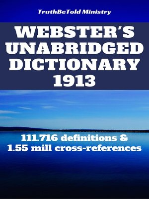 cover image of Webster's Unabridged Dictionary 1913