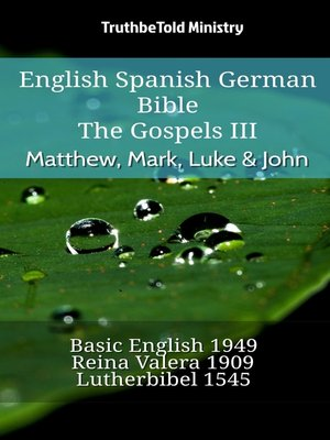 cover image of English Spanish German Bible--The Gospels III--Matthew, Mark, Luke & John