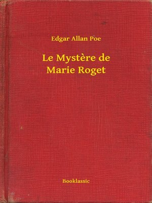 cover image of Le Mystere de Marie Roget
