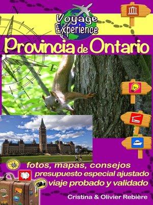 cover image of Provincia de Ontario