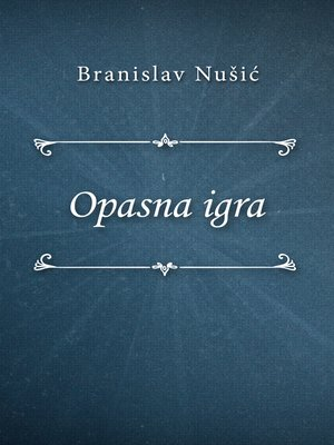 cover image of Opasna igra