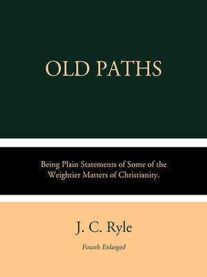 cover image of Old Paths