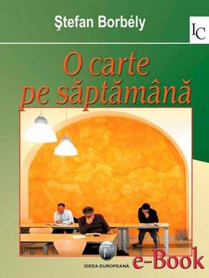 cover image of O carte pe săptămână