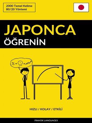 cover image of Japonca Öğrenin--Hızlı / Kolay / Etkili