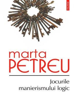 cover image of Jocurile manierismului logic