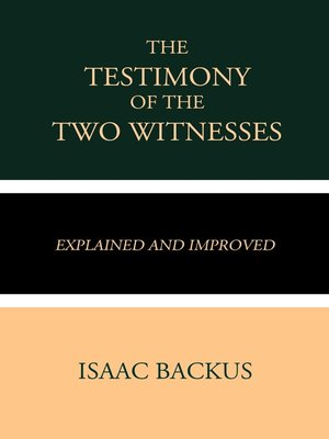 cover image of The Testimony of the Two Witnesses