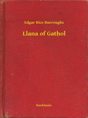 cover image of Llana of Gathol