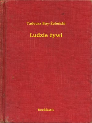 cover image of Ludzie żywi