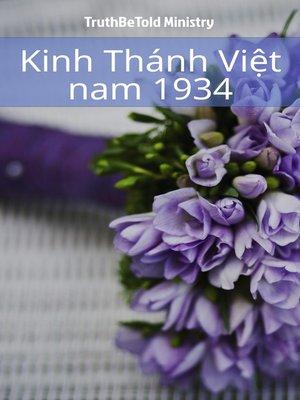cover image of Kinh Thánh Việt năm 1934