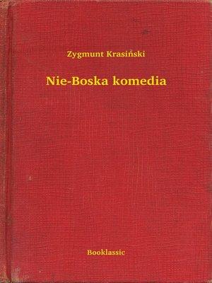 cover image of Nie-Boska komedia