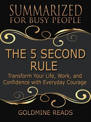 cover image of The 5 Second Rule - Summarized for Busy People