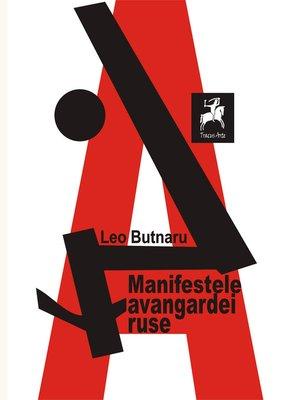 cover image of Manifestele avangardei ruse. Antologie