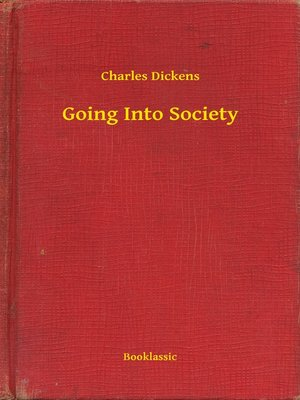 cover image of Going Into Society