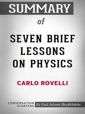 cover image of Summary of Seven Brief Lessons on Physics