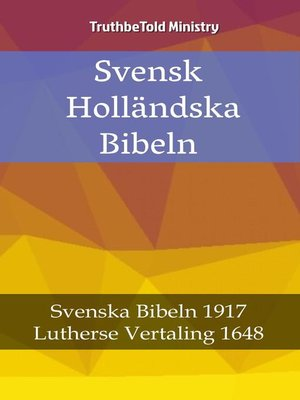 cover image of Svensk Holländska Bibeln