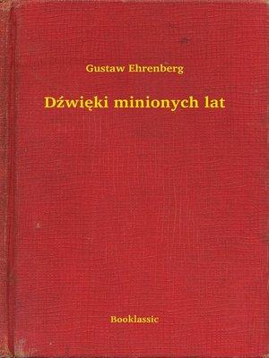 cover image of Dźwięki minionych lat