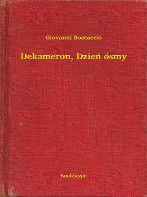 cover image of Dekameron, Dzień ósmy