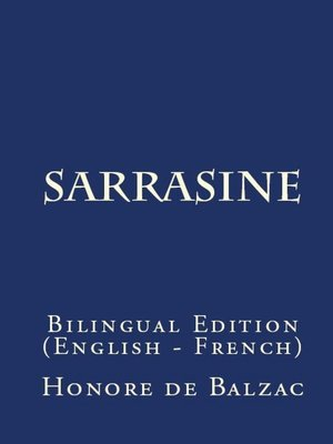 cover image of Sarrasine