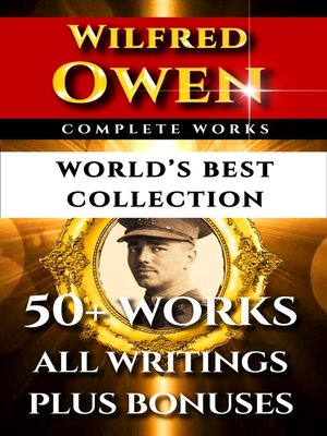 cover image of Wilfred Owen Complete Works – World's Best Collection