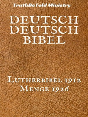 cover image of Deutsch Deutsch Bibel