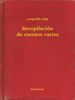 cover image of Recopilación de cuentos varios