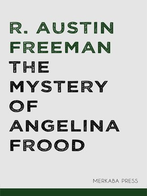 cover image of The Mystery of Angelina Frood