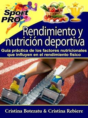 cover image of Rendimiento y nutrición deportiva