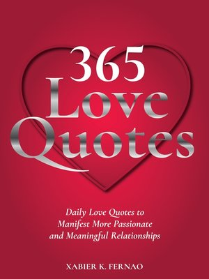 cover image of 365 Love Quotes