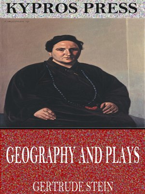 cover image of Geography and Plays