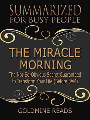 cover image of The Miracle Morning - Summarized for Busy People
