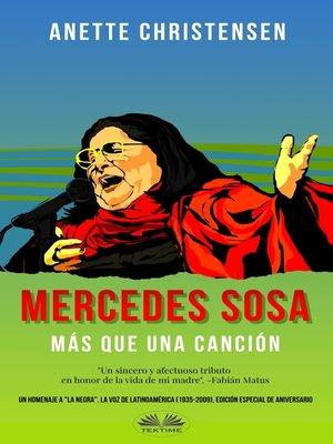 cover image of Mercedes Sosa--Más Que Una Canción