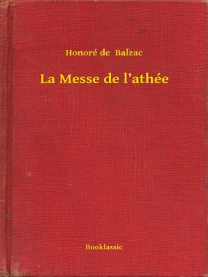 cover image of La Messe de l'athée