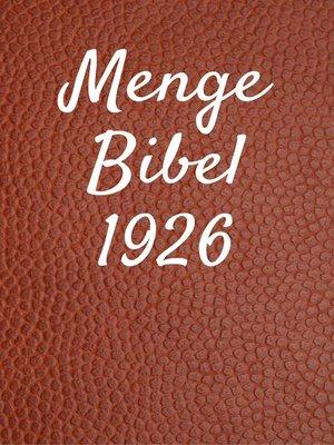 cover image of Menge Bibel 1926