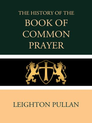 cover image of The History of the Book of Common Prayer