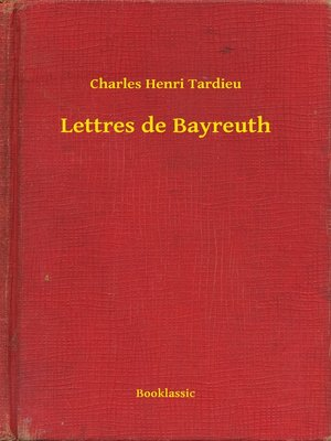 cover image of Lettres de Bayreuth