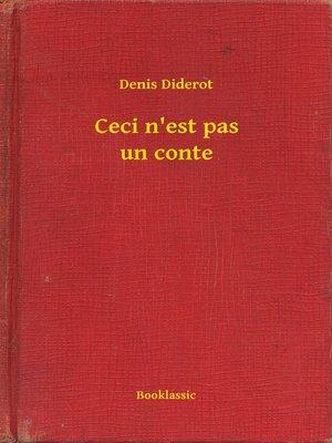 cover image of Ceci n'est pas un conte