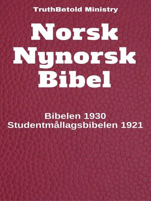 cover image of Norsk Nynorsk Bibel