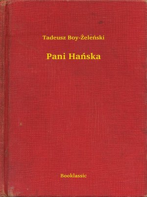 cover image of Pani Hańska