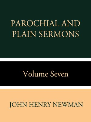 cover image of Parochial and Plain Sermons Volume Seven