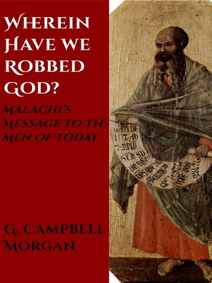 cover image of Wherein Have We Robbed God