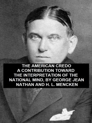 cover image of American Credo, A Contribution Toward the Interpretation of the National Mind