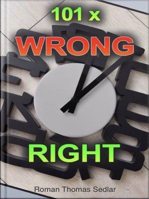 cover image of EN-DE 101x Wrong Right