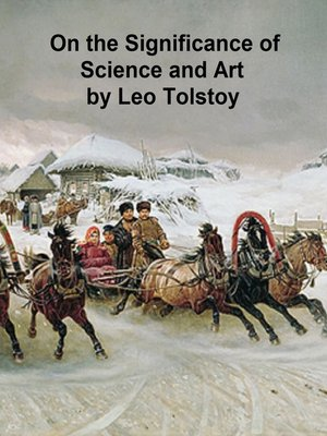 cover image of On the Significance of Science and Art