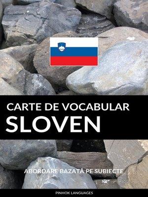 cover image of Carte de Vocabular Sloven