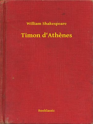 cover image of Timon d'Athenes