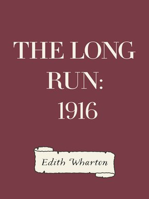 cover image of The Long Run: 1916